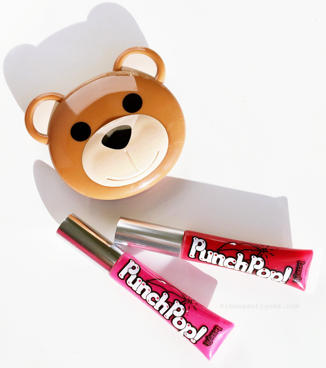Moschino + Sephora Collection Bear Compact Mirror (limited; sold out); Benefit PunchPop! Liquid Lip Color
