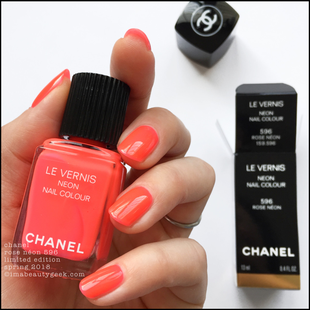 Chanel Rose Neon 596 Le Vernis Spring 2018 Limited Edition