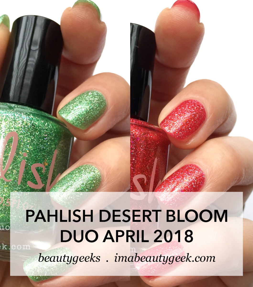 Pahlish Desert Bloom duo April 2018 swatches-Manigeek-Beautygeeks