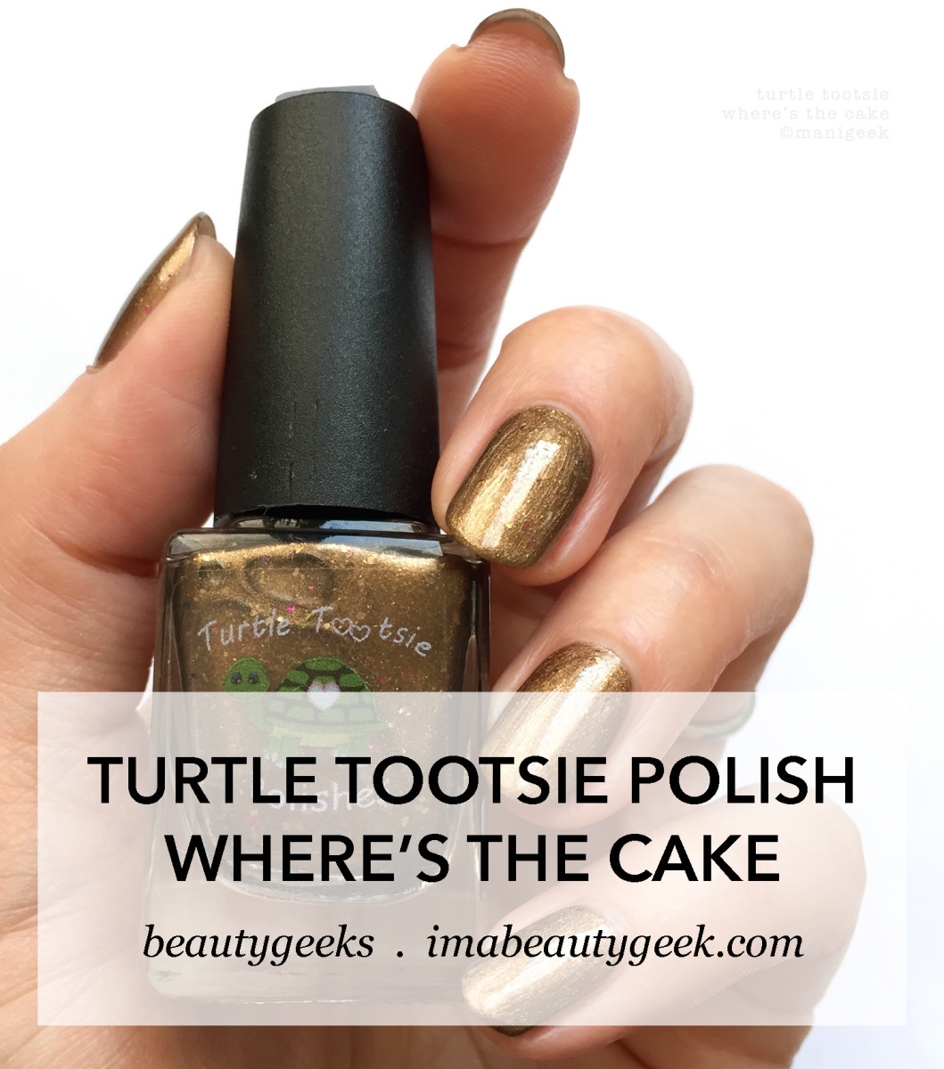 Turtle Tootsie Polish Wheres The Cake NOTD
