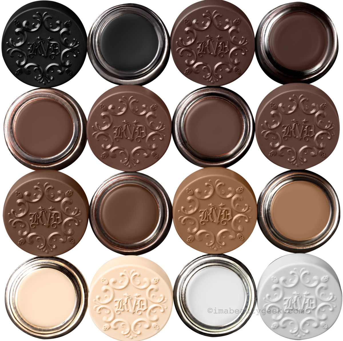 Kat Von D 24-Hr Super Brow Long-Wear Pomade neutral shades