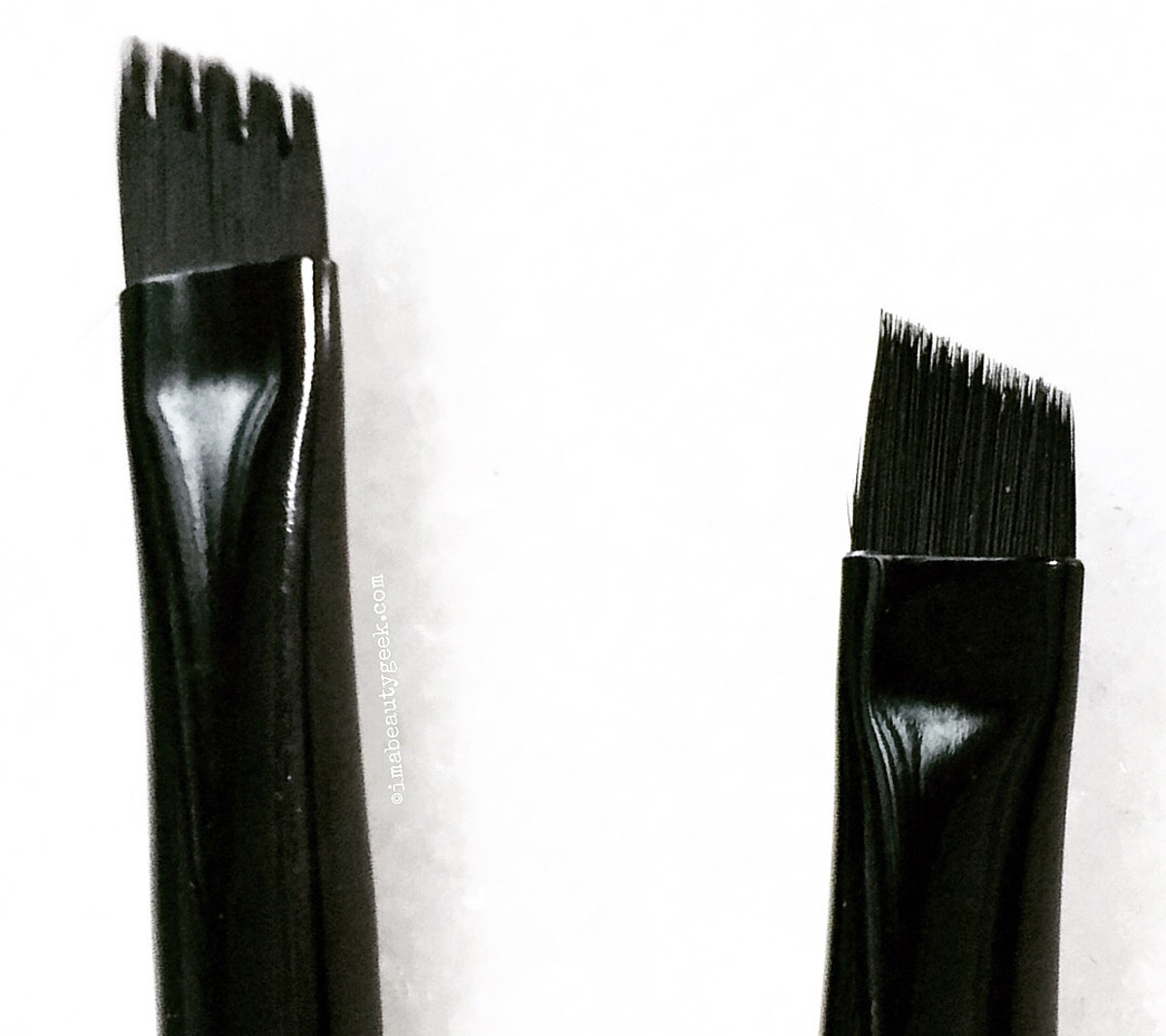 Kat Von D brow brushes: #75 Powder Brow Brush (left) and #70 Pomade Brow Brush (right)