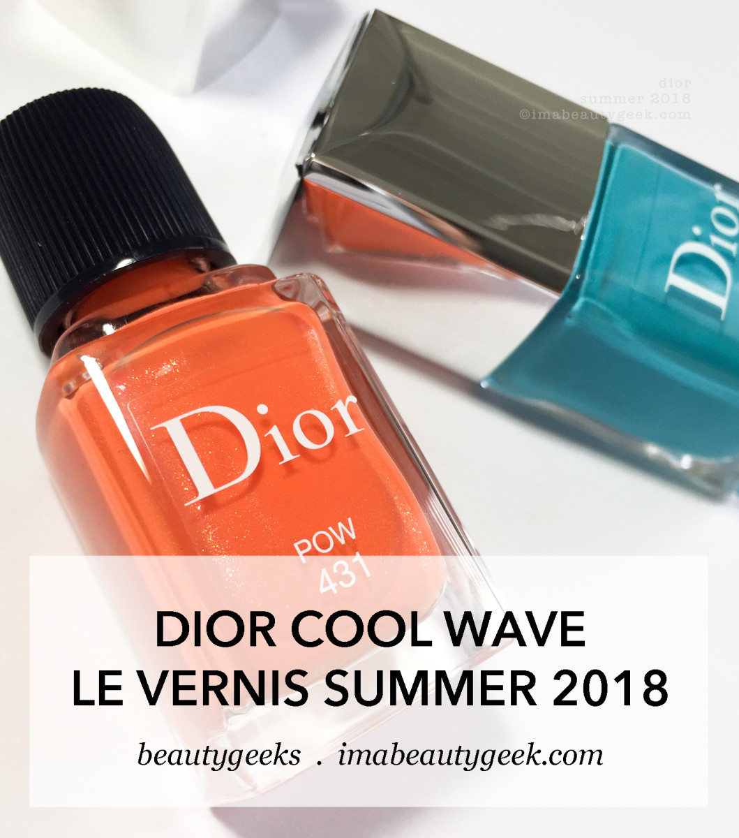 Dior Cool Wave collection Pow and Splash nail polish summer 2018-BEAUTYGEEKS