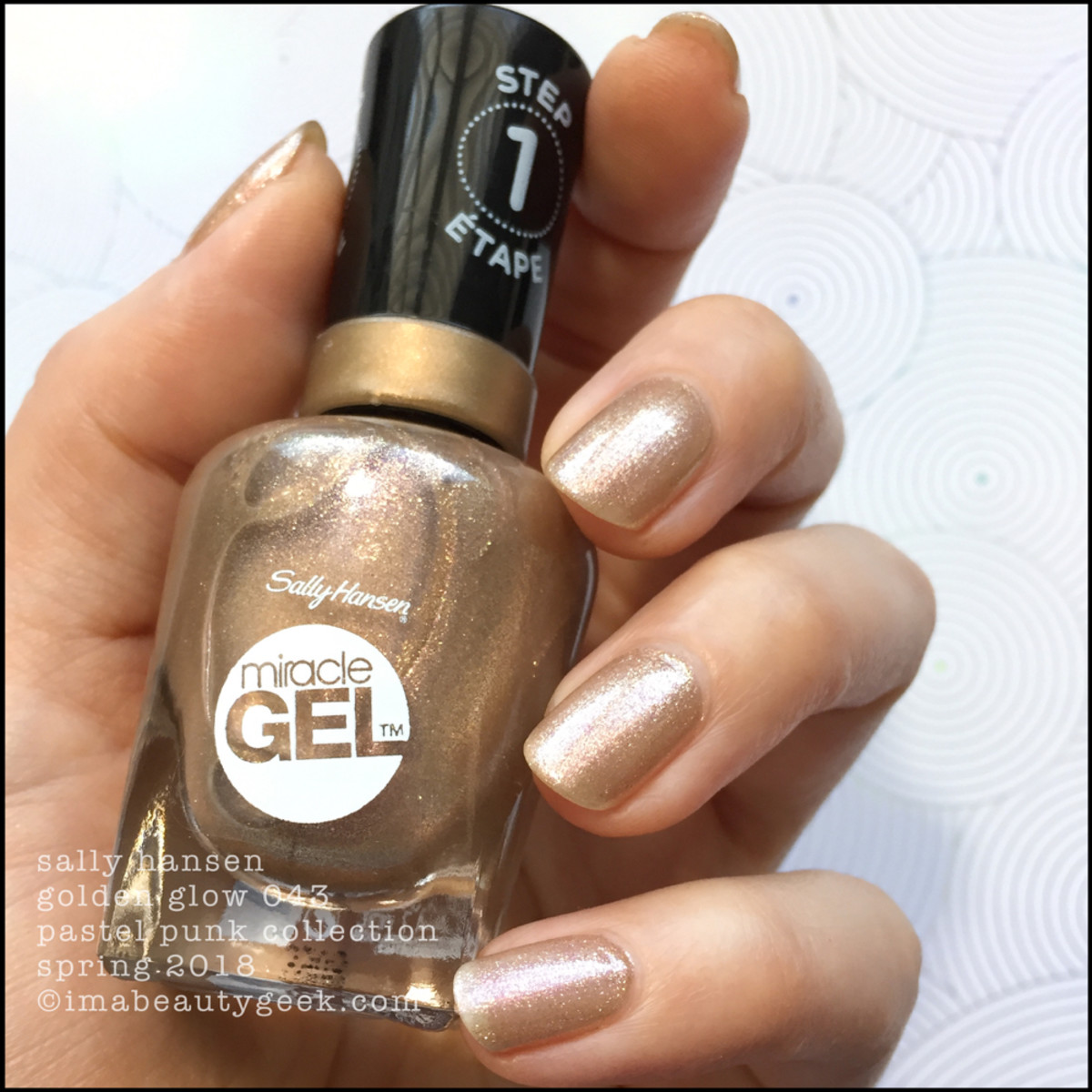 Sally Hansen Golden Glow 043 Miracle Gel 2018
