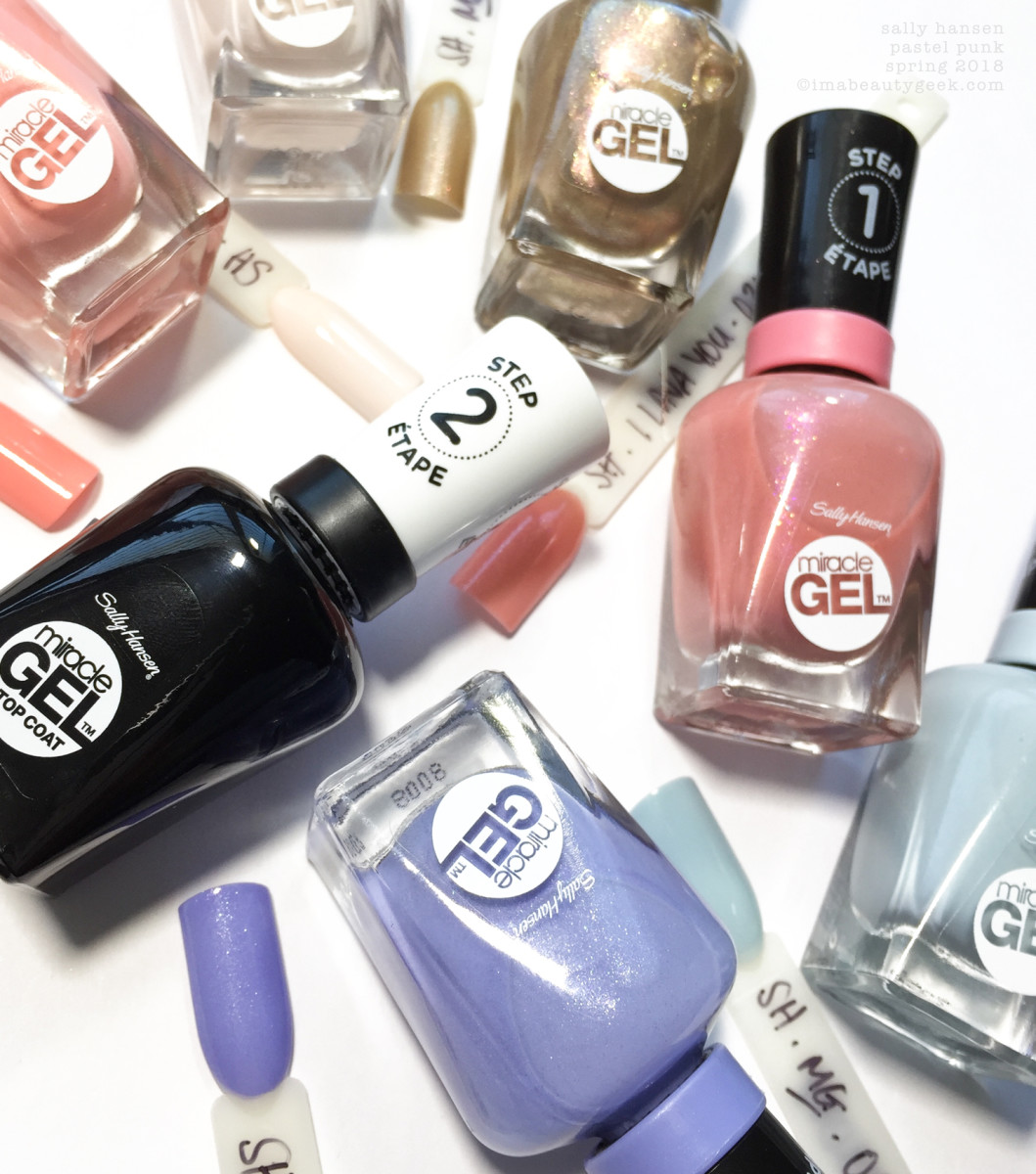 SALLY HANSEN PASTEL PUNK COLLECTION SWATCHES REVIEW 2018 ...