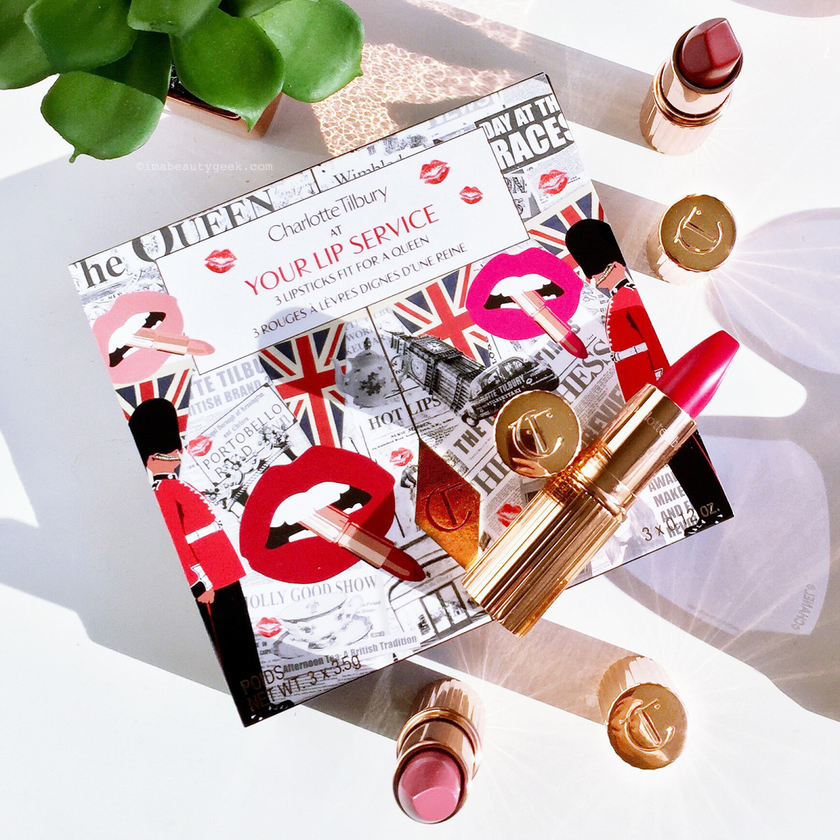Charlotte Tilbury At Your Lip Service: (top to bottom) Legendary Queen, The Queen, The Duchess