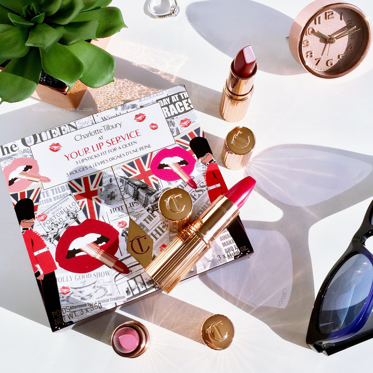 Charlotte Tilbury At Your Lip Service: 3 Lipsticks Fit for a Queen