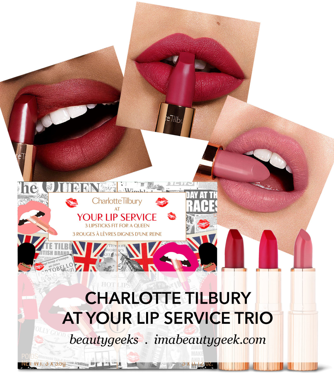 Charlotte Tilbury At Your Service Royal Lipstick Trio