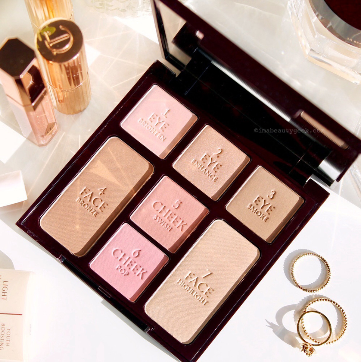 Charlotte Tilbury Natural Beauty Instant Look in a Palette: more neutral than cool shadows, but def not warm