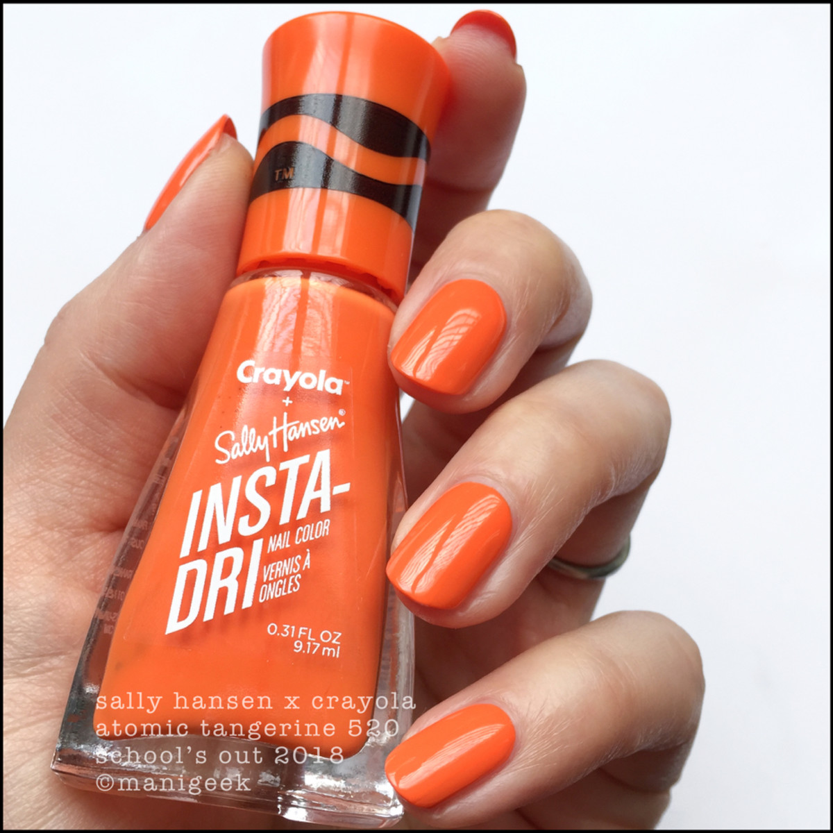Sally Hansen Crayola Atomic Tangerine - School's Out Collection 2018