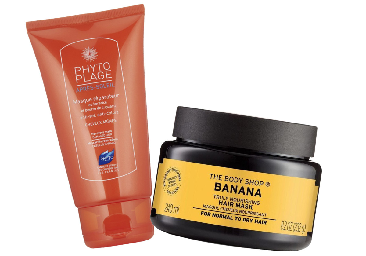 Deep conditioning counts: Phyto Phytoplage Masque Réparateur and The Body Shop Banana Hair Mask