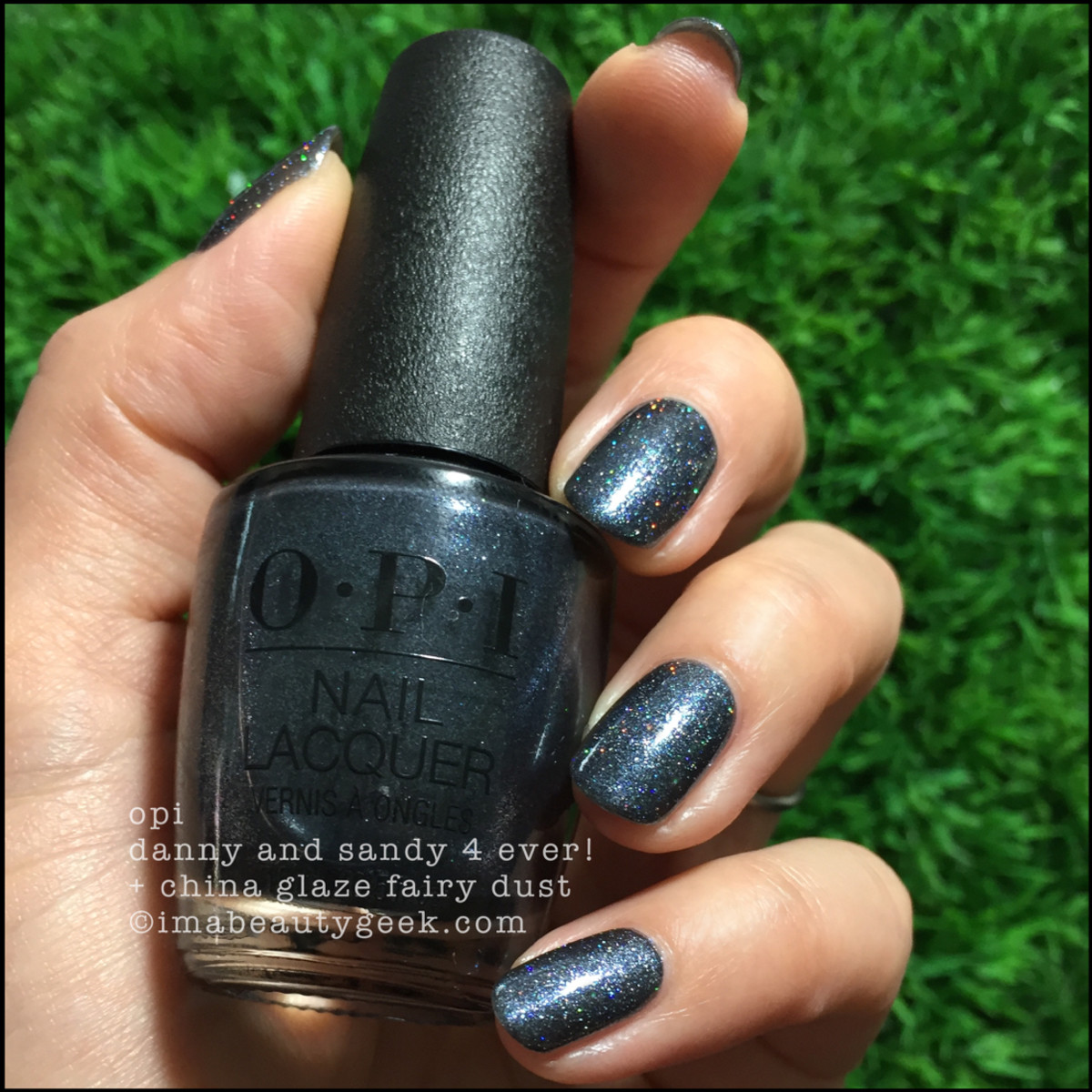 OPI Danny & Sandy 4 Ever! w Fairy Dust v2 - OPI Grease 2018