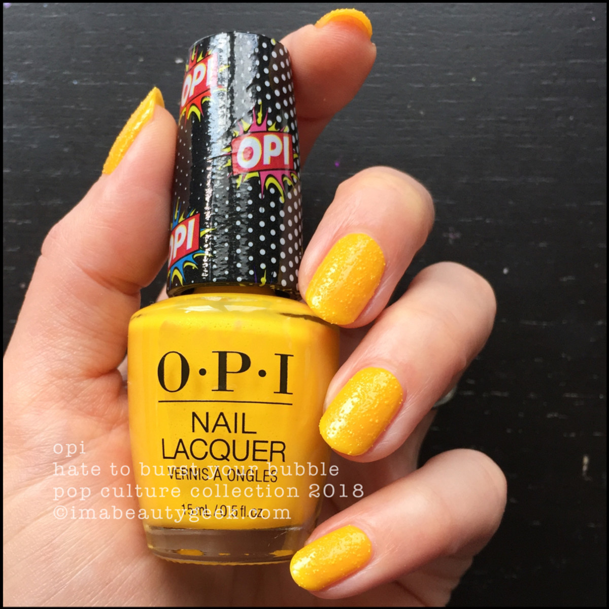 OPI Hate to Burst Your Bubble - OPI Pop Culture 2018 2