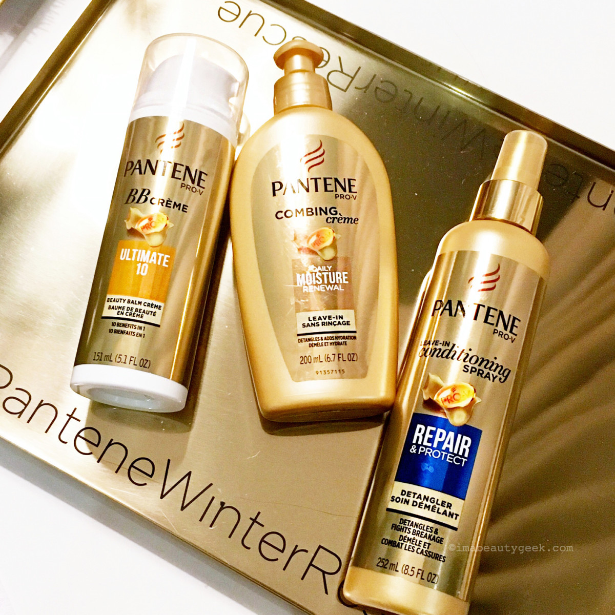 Pantene BB Creme, Combing Cream and Conditioning Spray