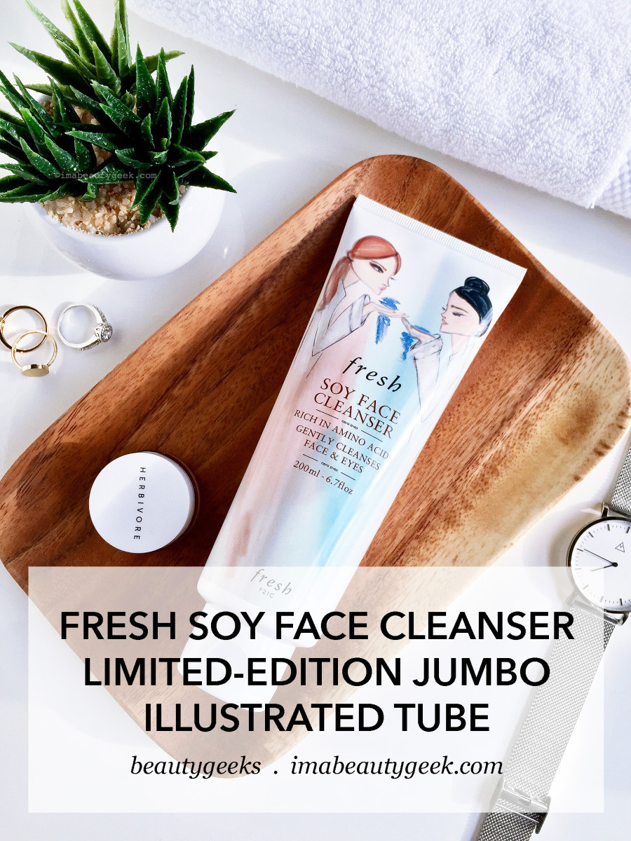 Fresh Soy Face Cleanser limited-edition illustrated 200mL tube