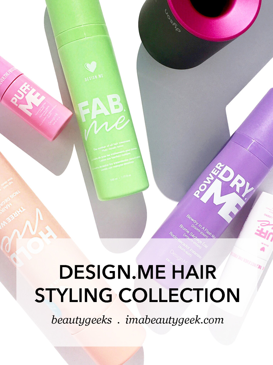 DesignMe Volumizers Hairspray Leave-In Treatment with my Dyson Supersonic
