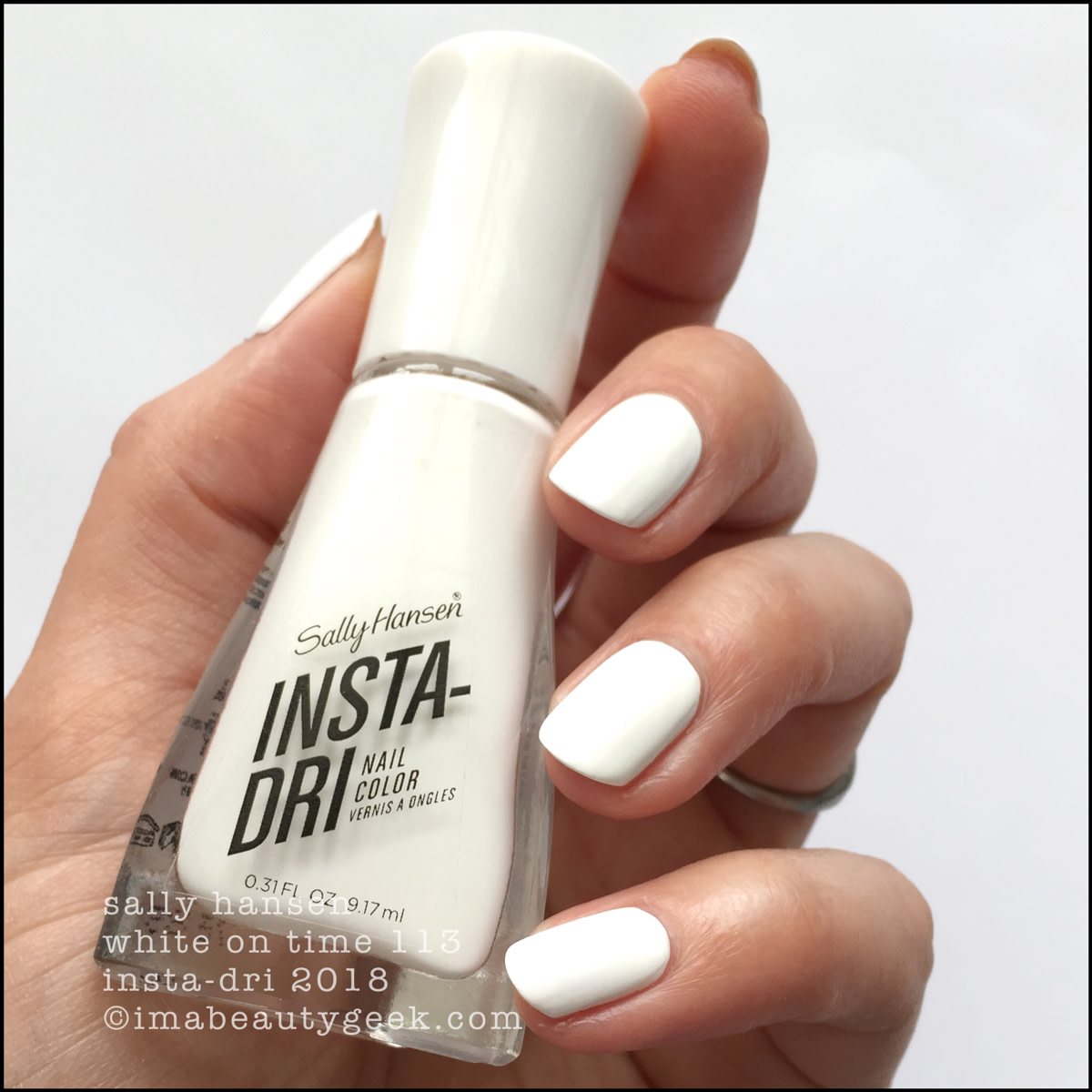 Sally Hansen White on Time _ Sally Hansen InstaDri Swatches Review 2018