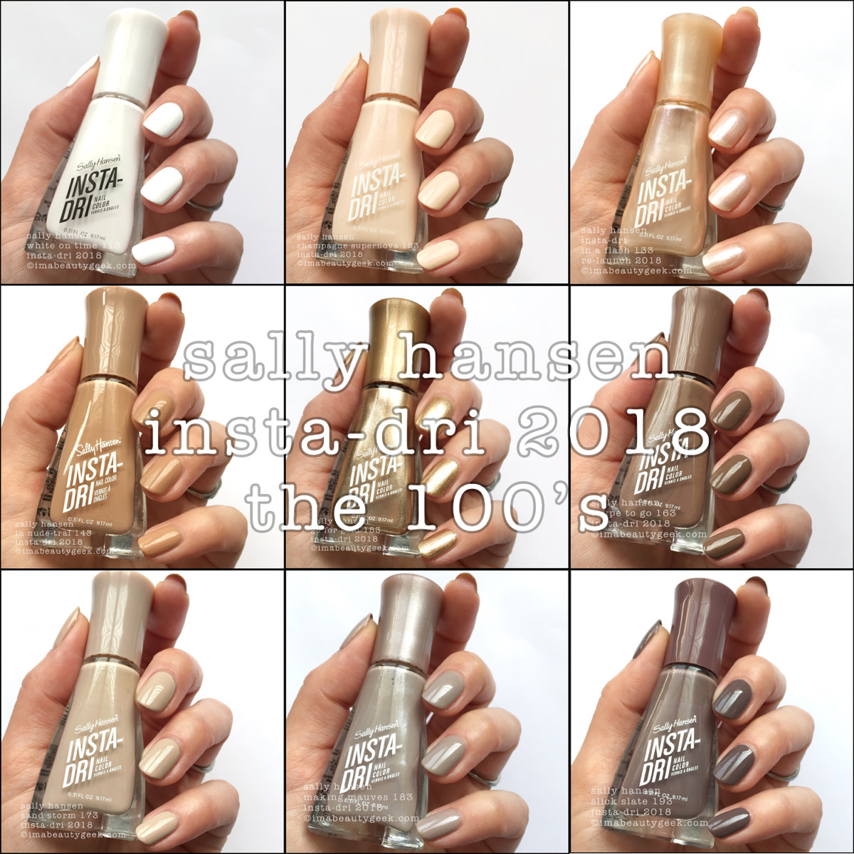 Sally Hansen Insta-Dri 2018 Relaunch Part 1 of 5