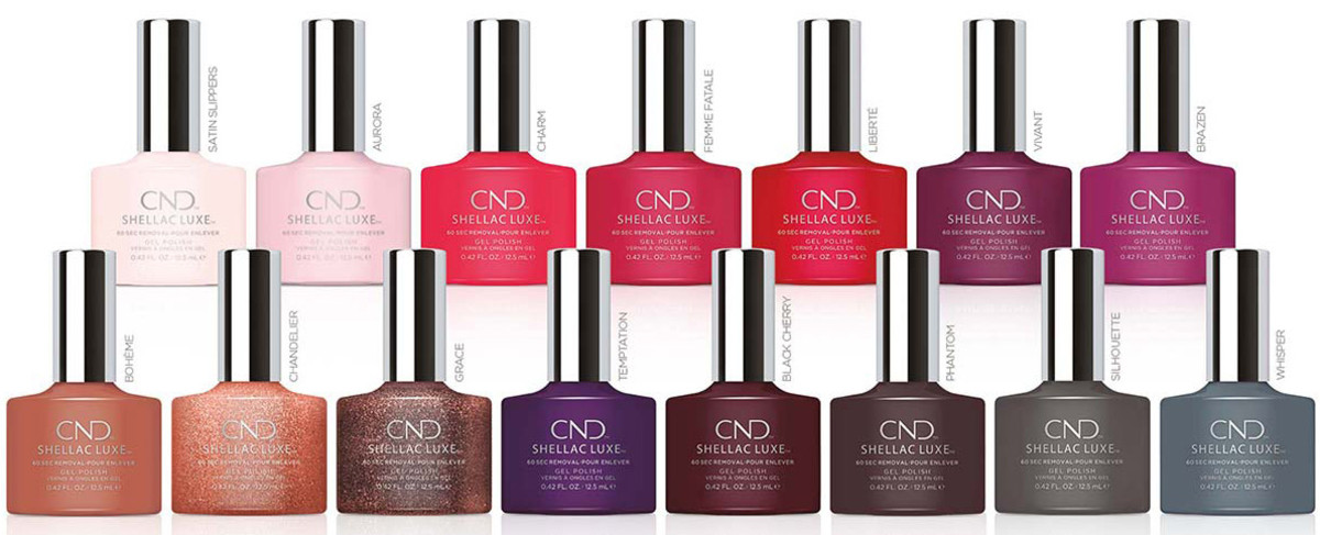 CND Shellac Luxe consists of 65 shades, including these 15 that are exclusive to the collection