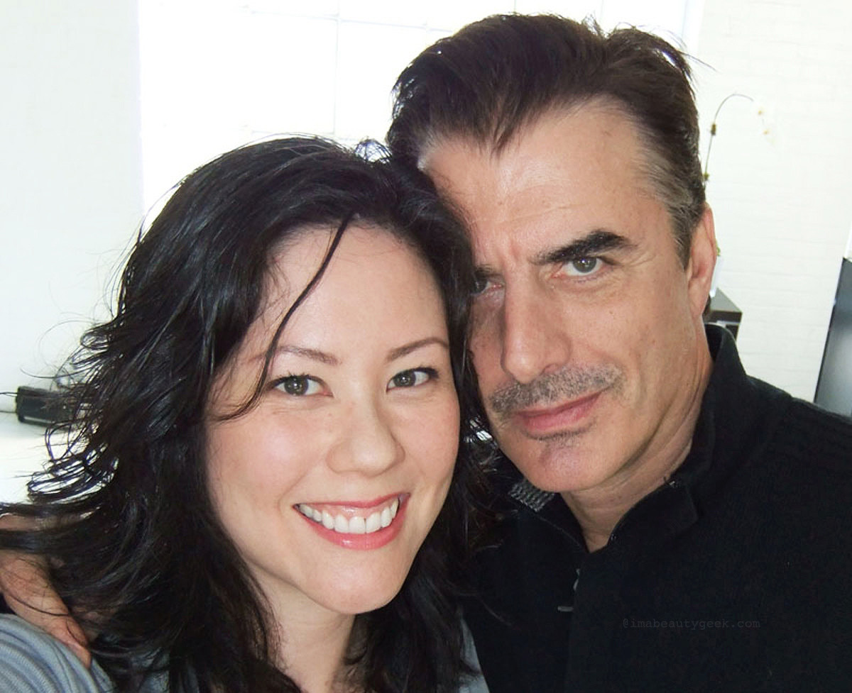 With Chris Noth; snapped with a real camera without a screen to view, and That Smolder...