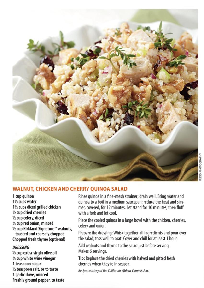 Walnut Chicken Cherry Quinoa Salad Costco Mag