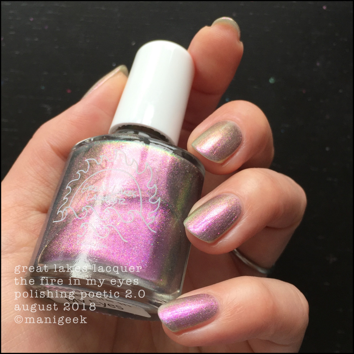 Great Lakes Lacquer The Fire In My Eyes 3 _ Great Lakes Lacquer Polishing Poetic 2.0 Swatches & Review