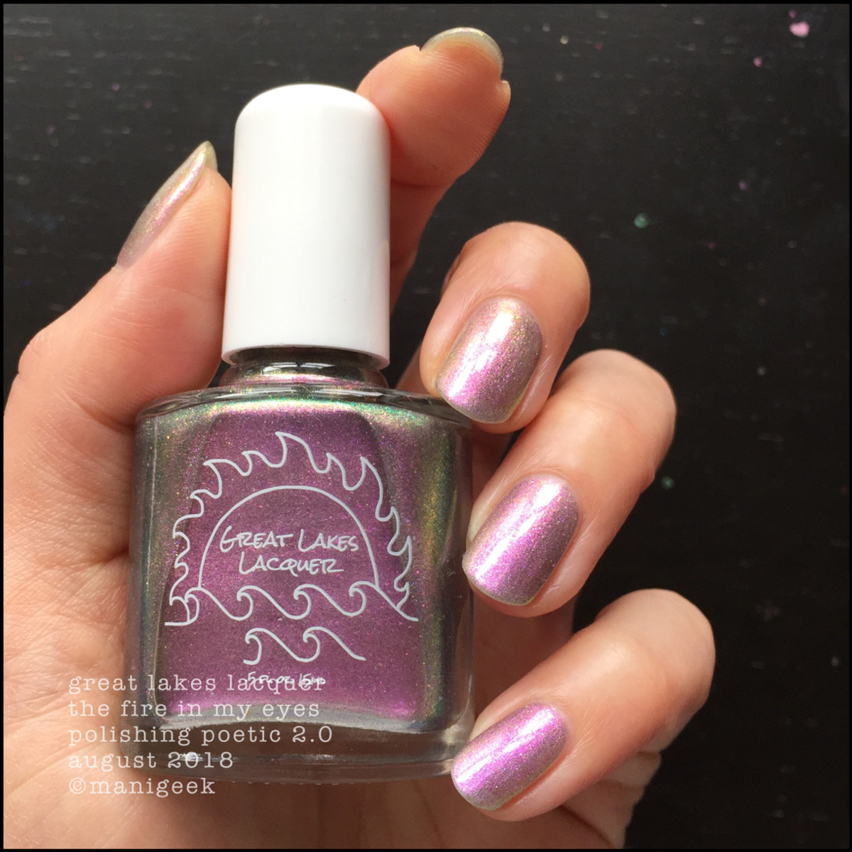 Great Lakes Lacquer The Fire In My Eyes 2 _ Great Lakes Lacquer Polishing Poetic 2.0 Swatches & Review
