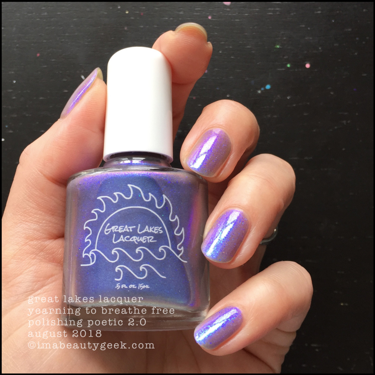 Great Lakes Lacquer Yearning to Breathe Free 2 _ Great Lakes Lacquer Polishing Poetic 2.0 Swatches Review