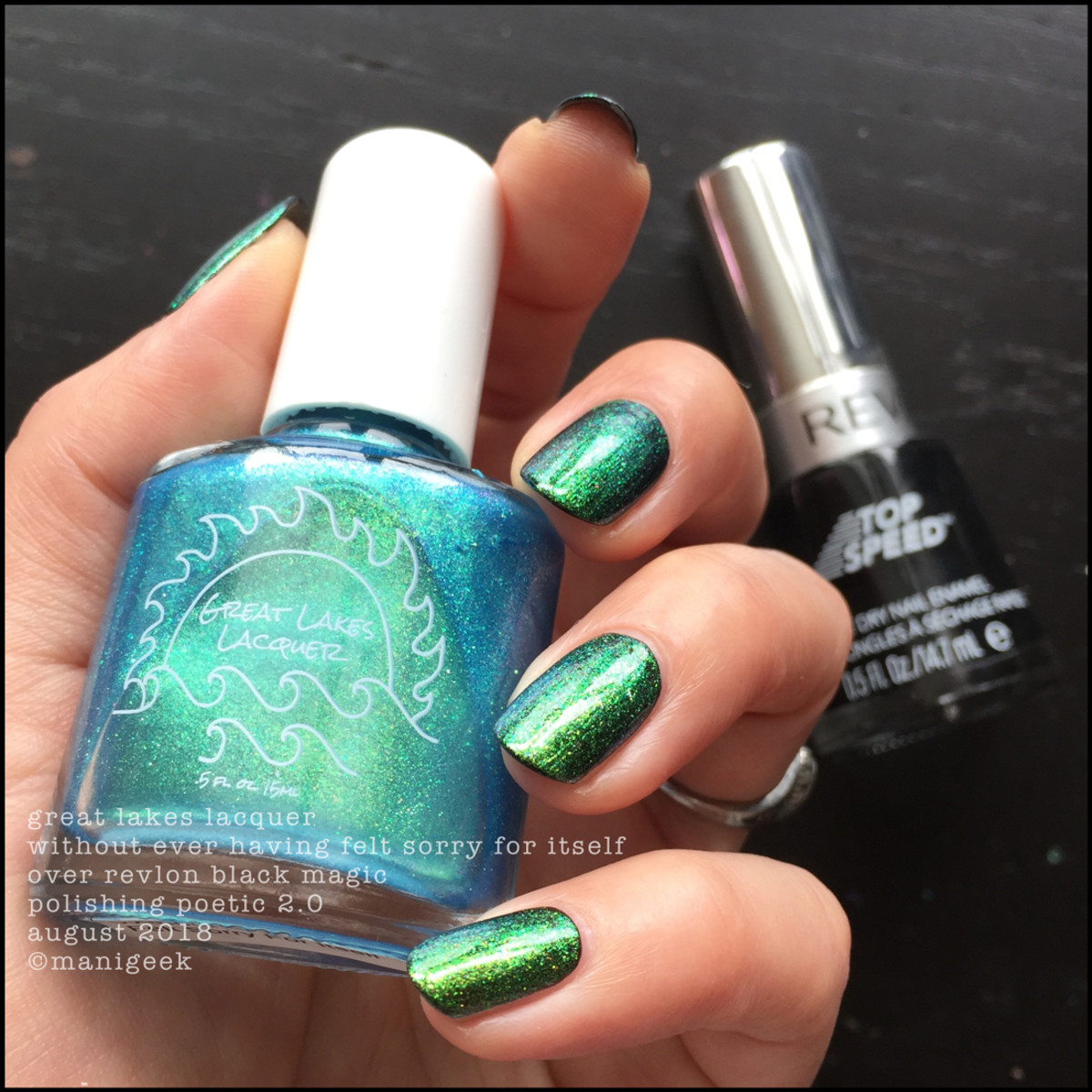 Great Lakes Lacquer Without Every Having Felt Sorry For Itself over black 2 _ Great Lakes Lacquer Polishing Poetic 2 2018