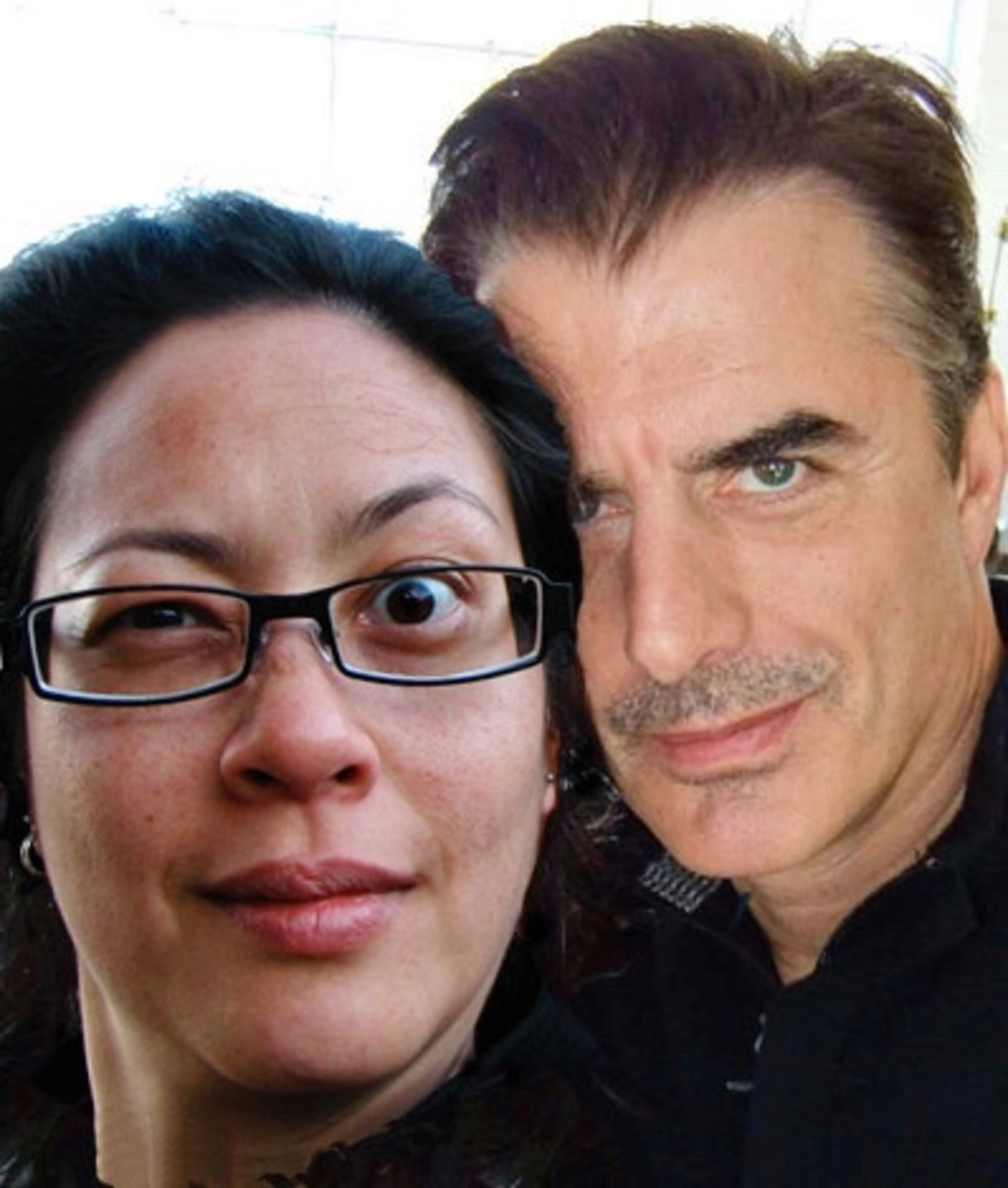 Karen Falcon Manigeek and Chris Noth