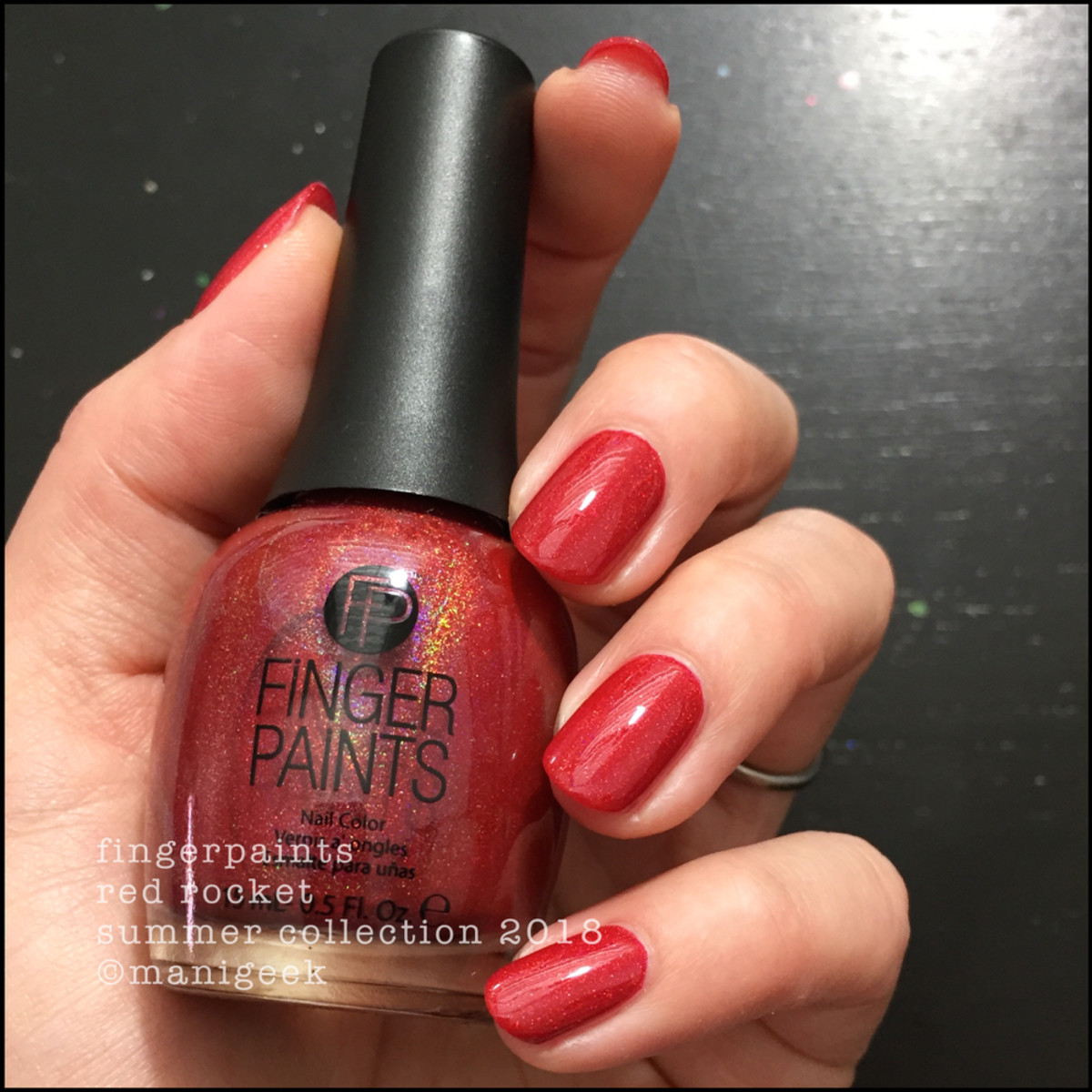 Fingerpaints Red Rocket Nail Polish Summer 2018