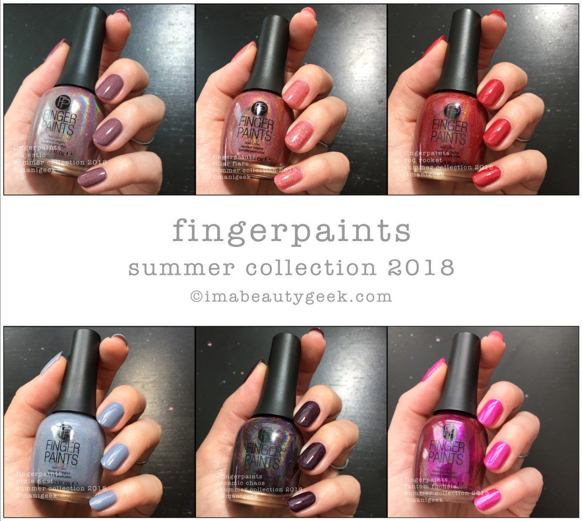 FingerPaints Holos Summer 2018 Collection - Beautygeeks Composite