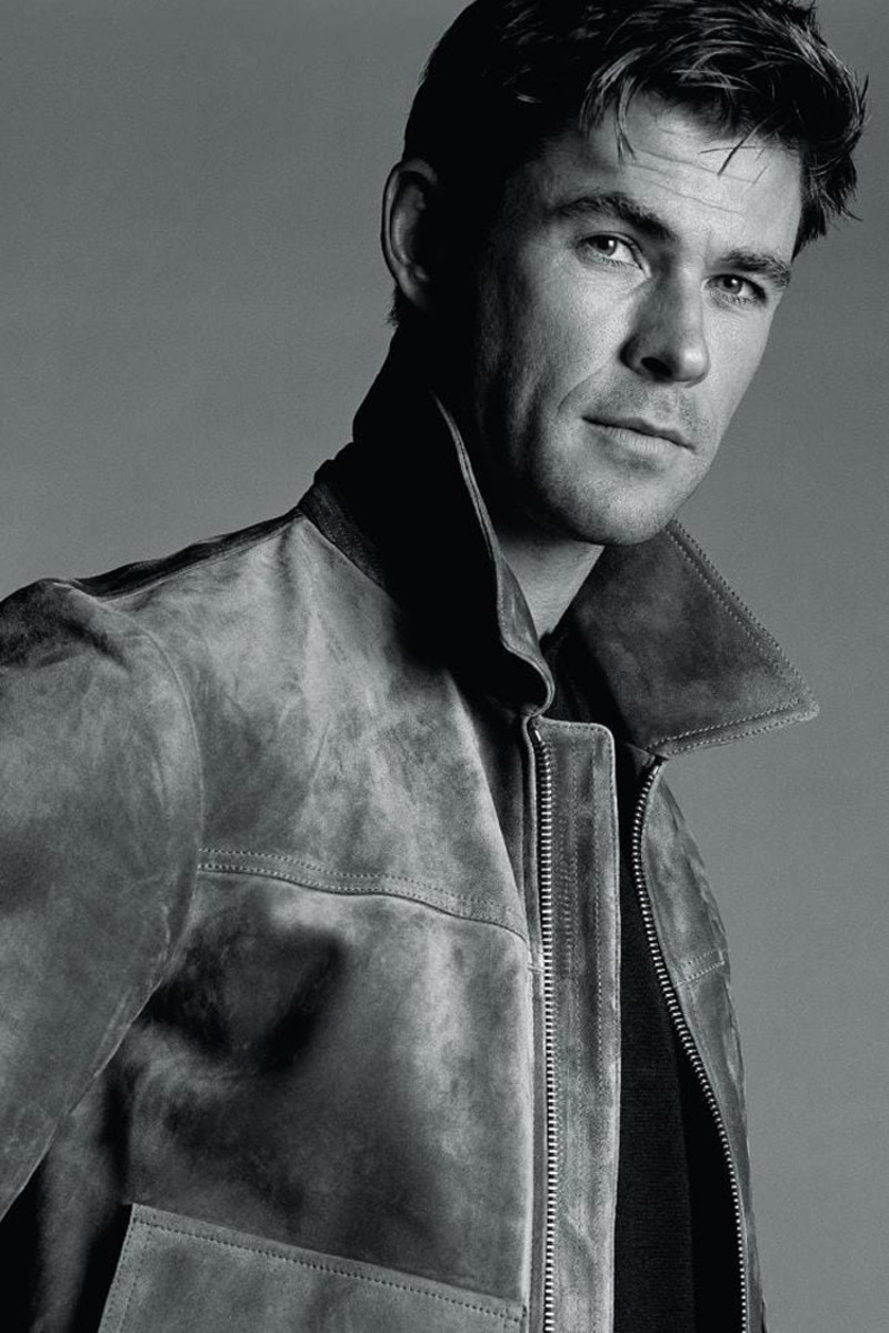 chris hemsworth gq australia leather jacket oh goodness
