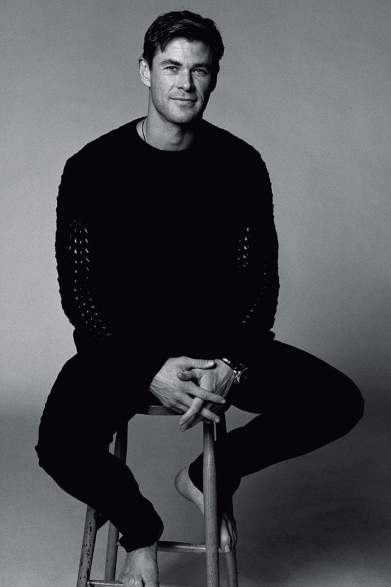 chris hemsworth gq australia seated