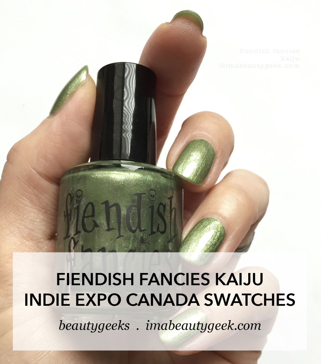 Fiendish Fancies Kaiju _ Indie Expo Canada Swatches - Version 2