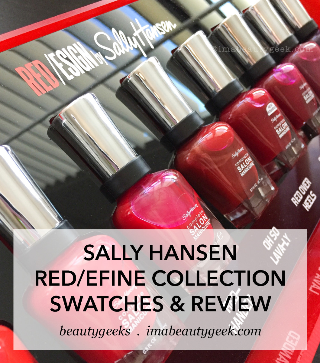 SALLY HANSEN RED/ESIGN COLLECTION SWATCHES & REVIEW - Beautygeeks