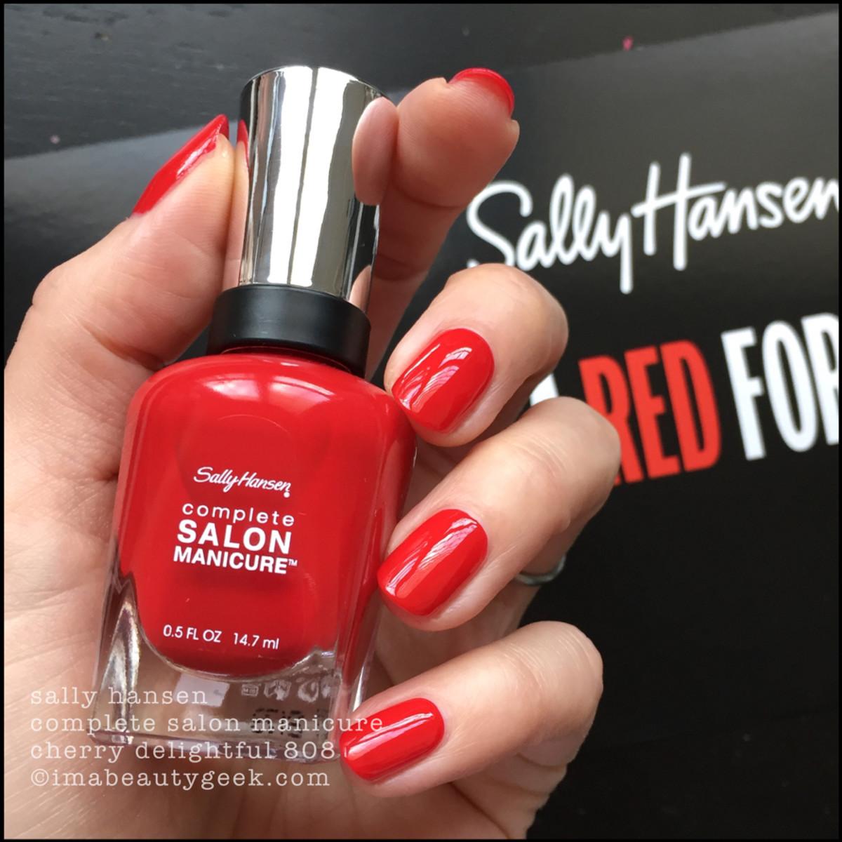 Sally Hansen Cherry Delightful CSM 808 - Red/esign Collection 2018