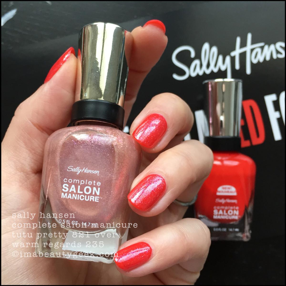 Sally Hansen Tutu Pretty over Warm Regards - Red/esign Collection 2018