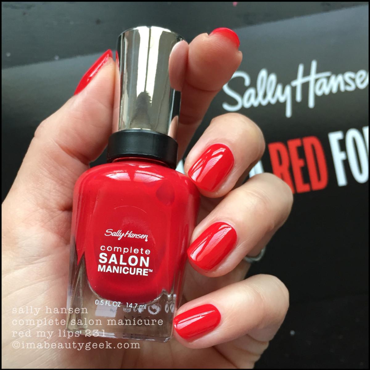 Sally Hansen Red My Lips 231 CSM - Red/esign Collection 2018