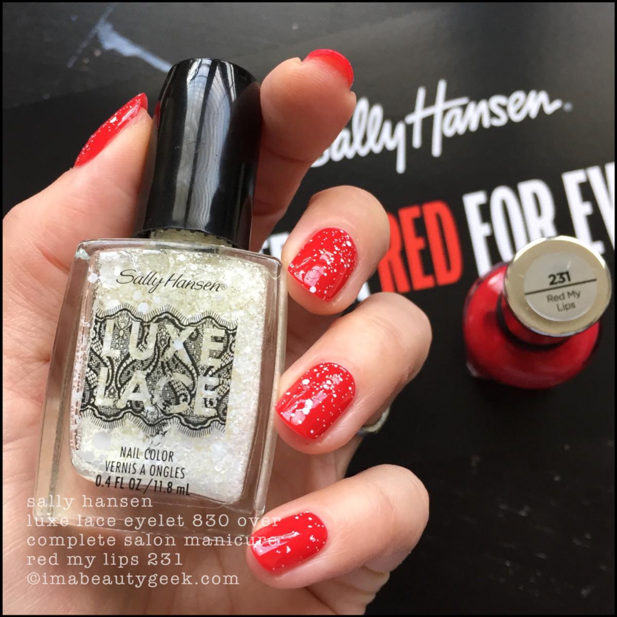 Sally Hansen Lace Eyelet over Warm Regards CSM 235 - Red/esign Collection 2018