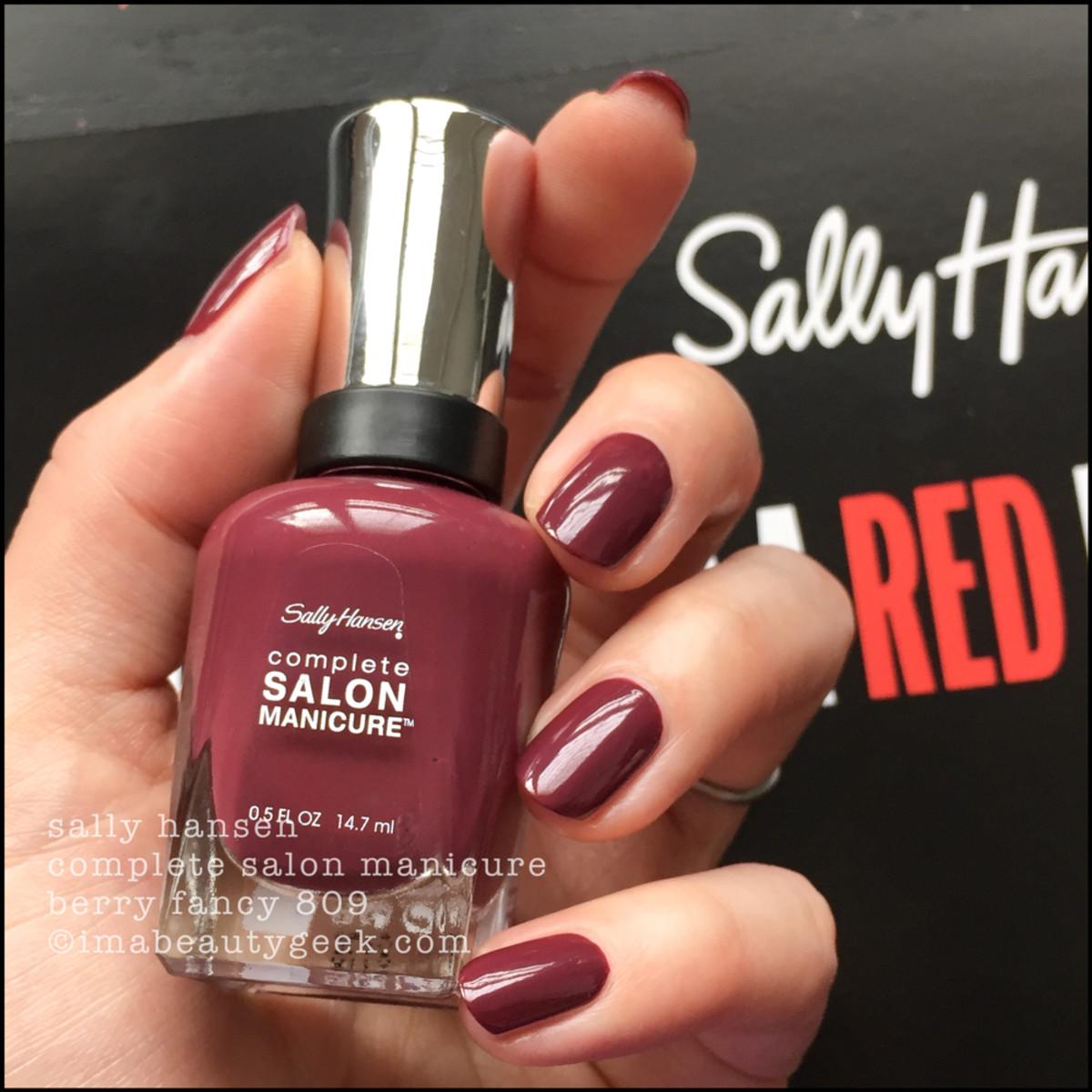 Sally Hansen Berry Fancy 809 CSM - Red/esign Collection 2018