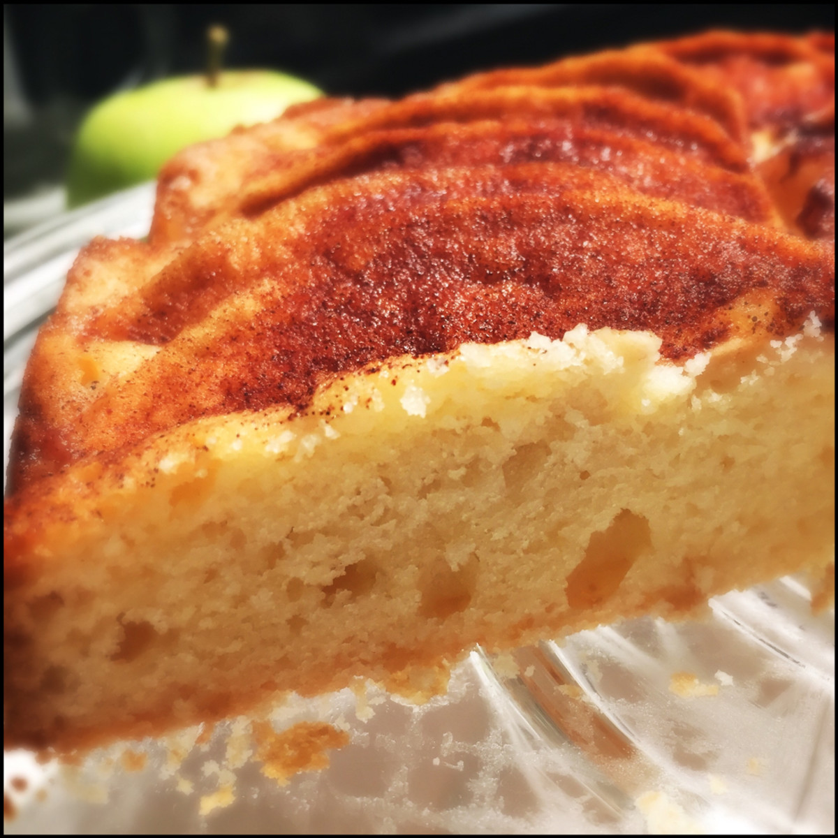 French Apple Cake Sliced