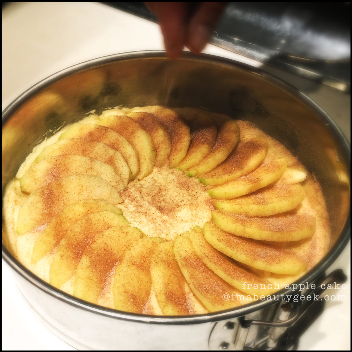 French Apple Cake Before Baking