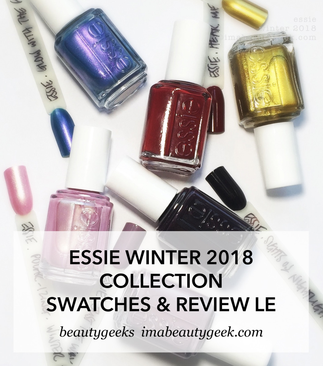 Essie Winter 2018 Collection Swatches Review LE image