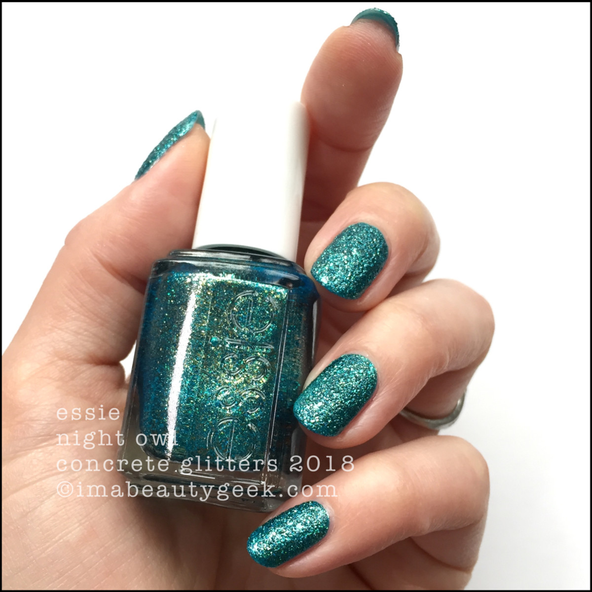Essie Night Owl - Essie Concrete Glitters 2018 Swatches