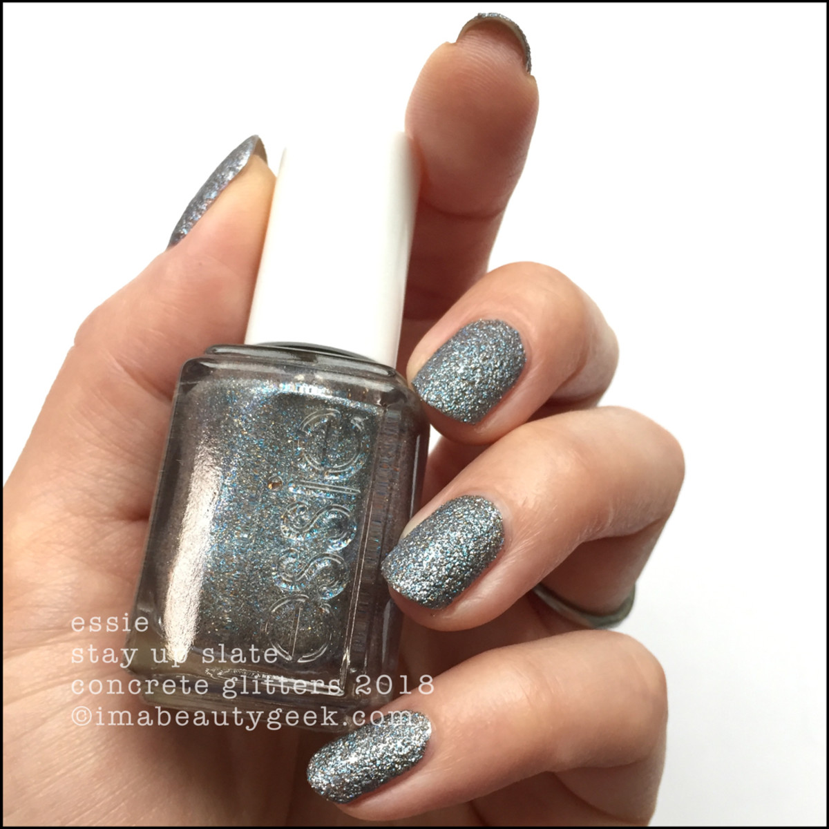 Essie Stay Up Slate - Essie Concrete Glitters 2018 Swatches