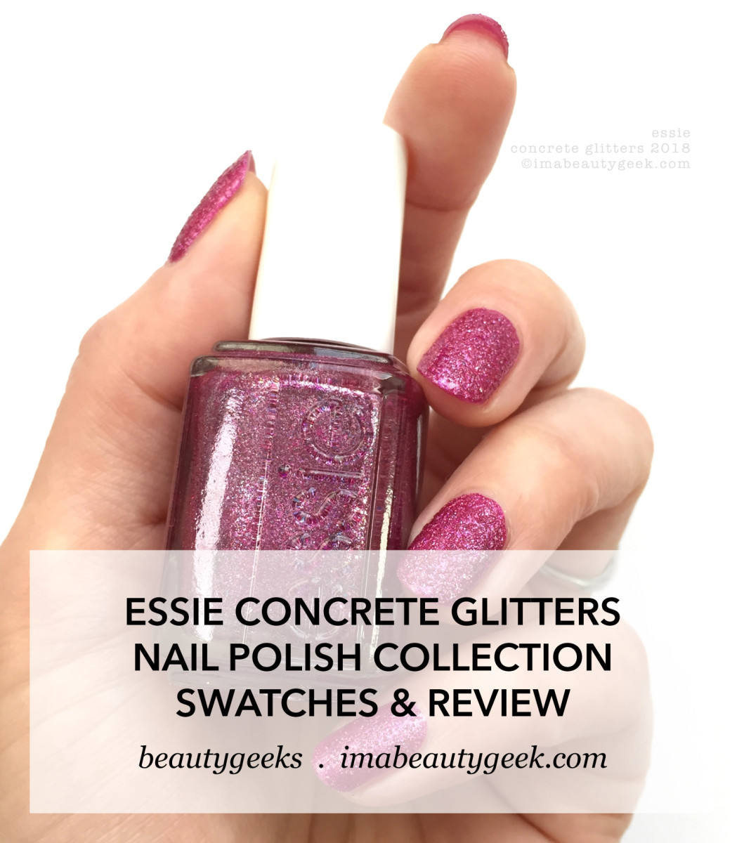 Essie Concrete Glitters Collection Swatches Review 2018