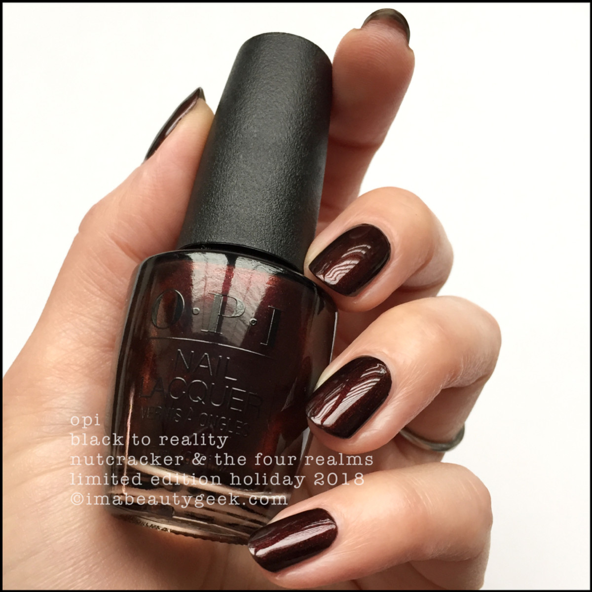 OPI Black to Reality - OPI Nutcracker Holiday 2018