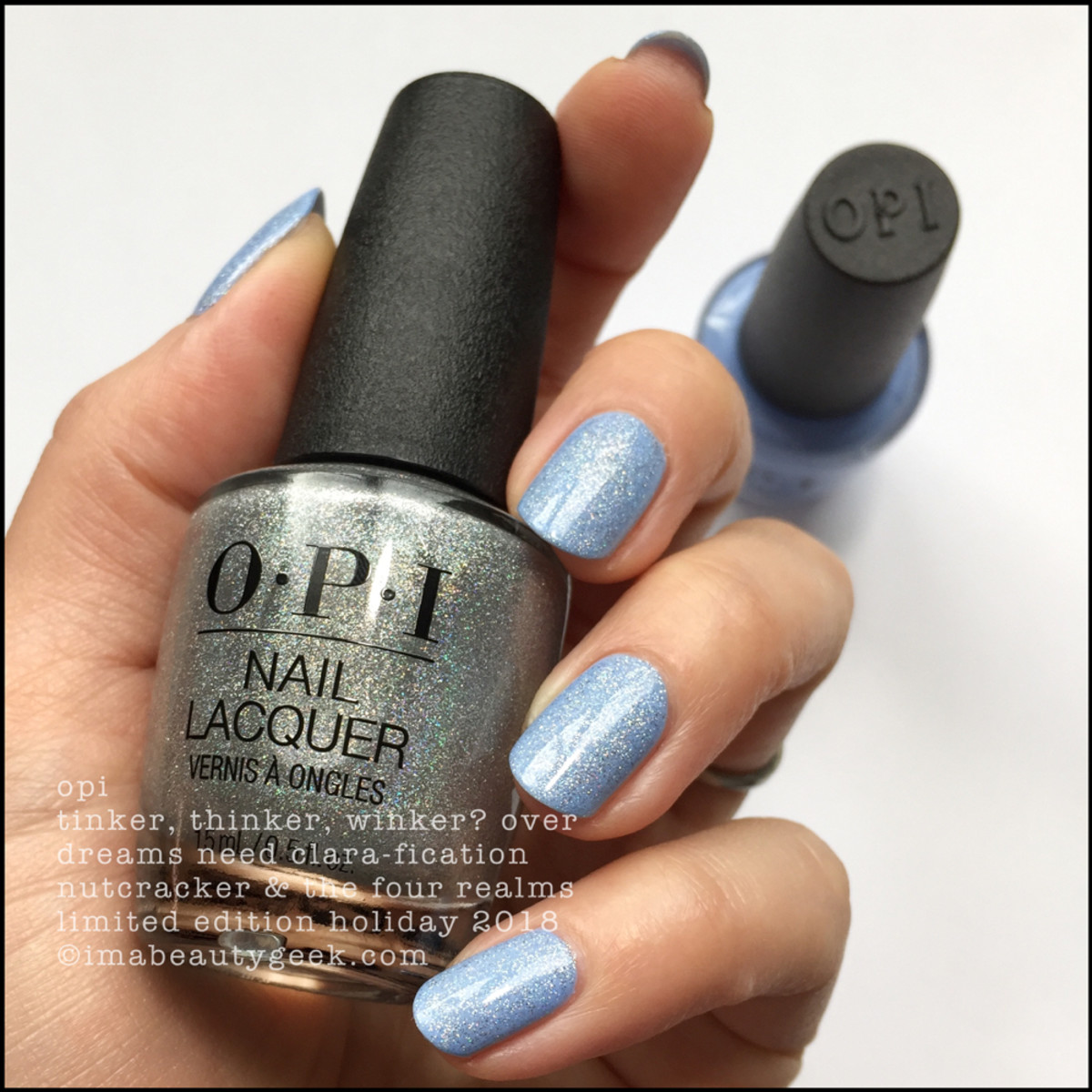 OPI Tinker, Thinker, Winker? over Dreams Need Clara-fication - OPI Nutcracker Holiday 2018