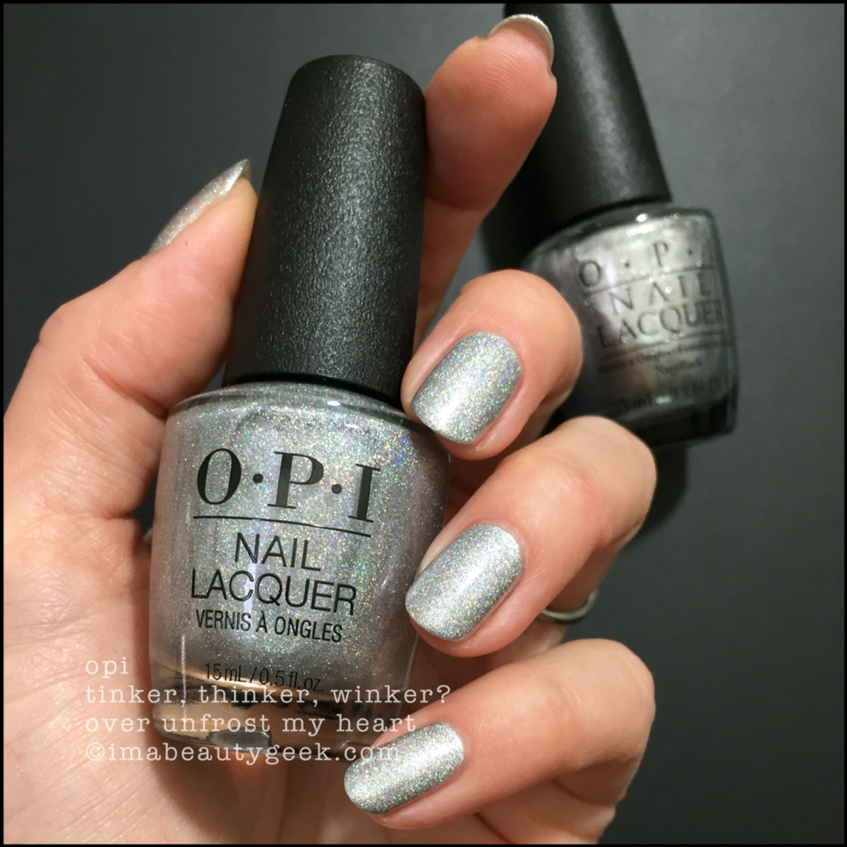 OPI Tinker, Thinker, Winker? over Unfrost My Heart - OPI Nutcracker Holiday 2018